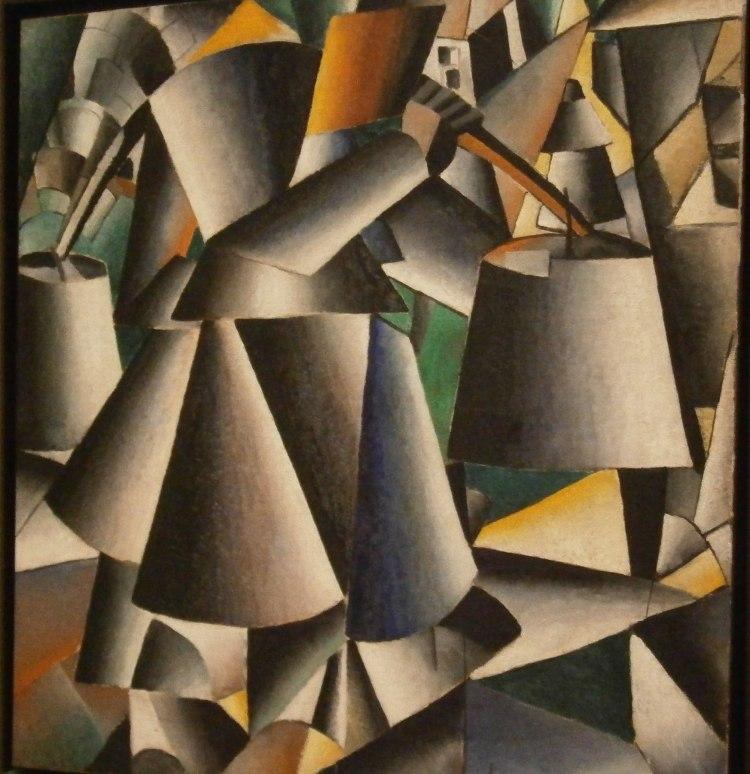 Woman with Pails: Dynamic Arrangement (Kazimir Malevich)