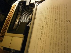 At the Typewriter