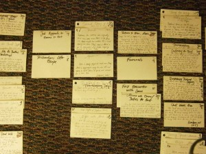 I outlined my last novel with note cards.