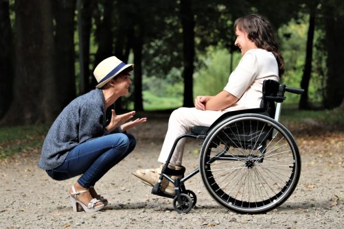 woman-on-black-folding-wheelchair-2026764